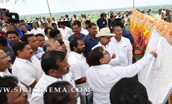 Chief Minister Sri K Chandrashekhar Rao visit to Karivena Project