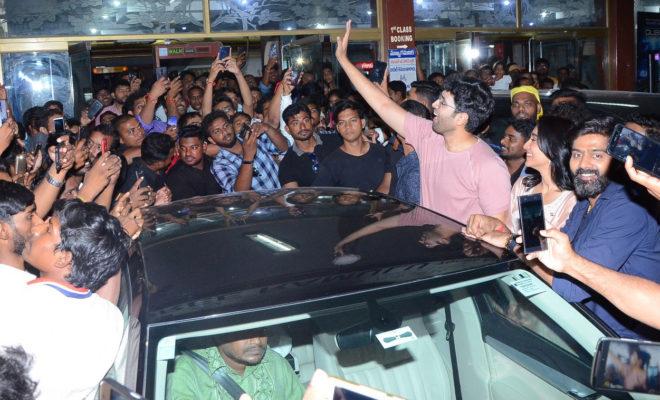 Evaru Team Theaters Visit in Hyderabad
