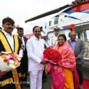 CM K Chandrasekhar Rao recevi g newly appointed Governor Tamilisai Soundararajan