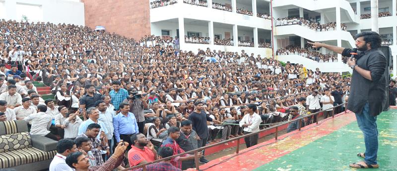 Gaddalakonda Ganesh team at VVIT College, Vijayawada