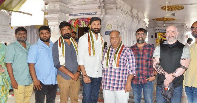 Gopi Chand and BVSN prasad's film shoot started
