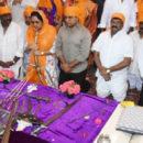 KTR and minister Srinivas Yadav visited Ameerpet Gurudwara