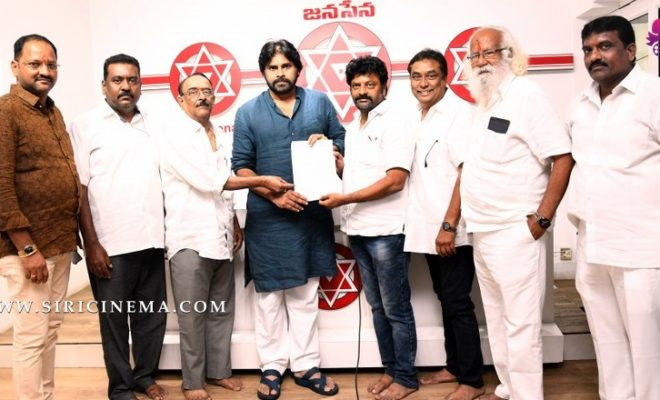 Pawan Kalyan Meeting With Telugu Cine Workers Housing Society Ltd
