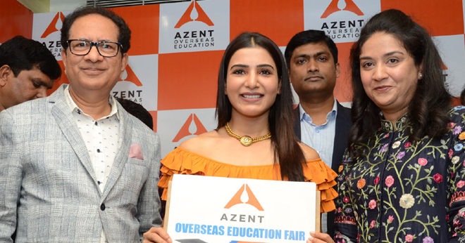 Samantha launches Azent Overseas education center- Hyderabad