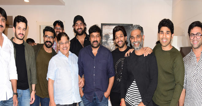Stylish Star allu arjun & Allu Aravind Hosted a Grand Success Party Stills