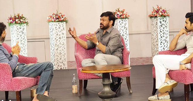 Trivikram Special Interview With Chiranjeevi & Ram Charan