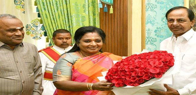 KCR Met Hon'ble Governor Tamilisai Soundararajan