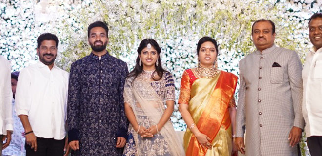 Producer Lakshman's son Ujwal engagement Photos