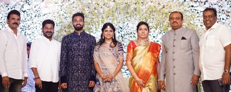 Producer Lakshman's son Ujwal engagement Photos