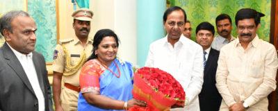 CM KCR New year greetings to Governer @ Rajbhavan