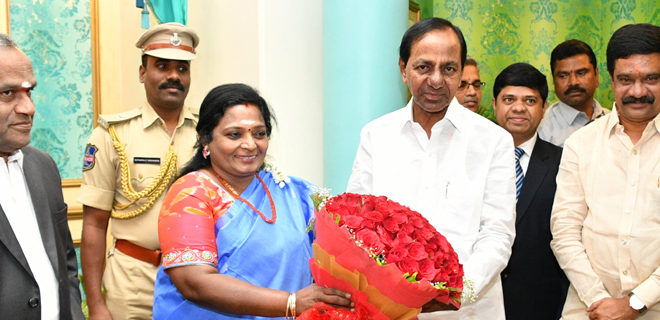 CM KCR New year greetings to Governer @ Rajbhavan