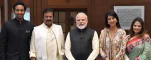 Dr. M Mohan Babu and family meets PM Modi