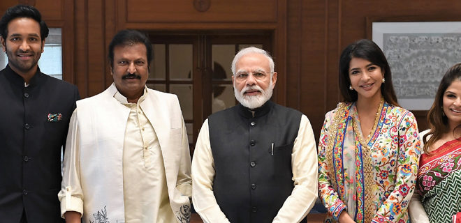 Dr. M Mohan Babu and family meets PM Modi