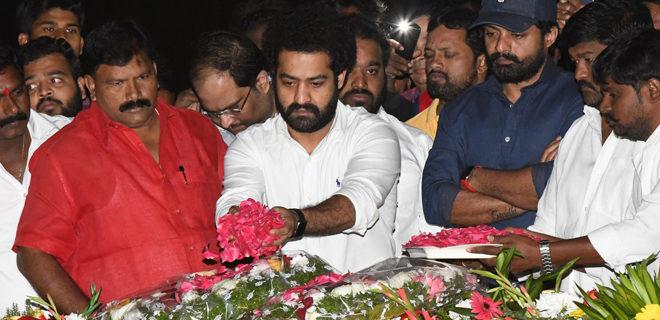 NTR - Kalyan Ram visits NTR Ghat