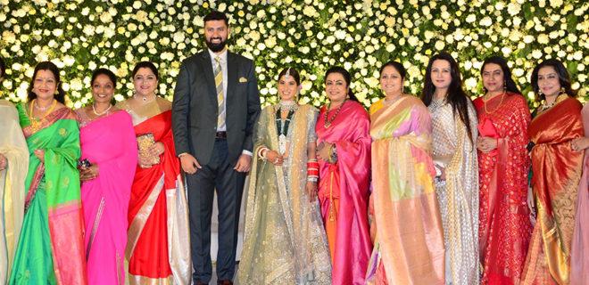 Jayasudha Kapoor son Nihar Kapoor wedding reception