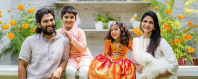 AlluArjun Dussehra celebrates with his family