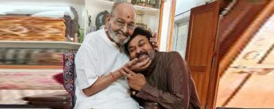 Mega Star Chiranjeevi garu met Director K Viswanath Photos