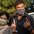 Celebs. Voteing GHMC Elections